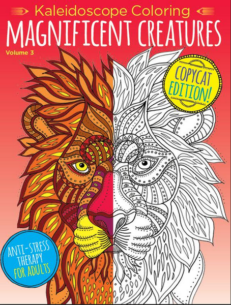 Kaleidoscope Coloring: Magnificent Creatures—Copy Cat Edition