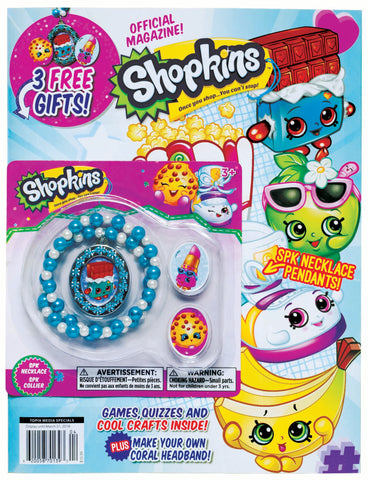 Shopkins Official Magazine—With SPK Necklace Pendants