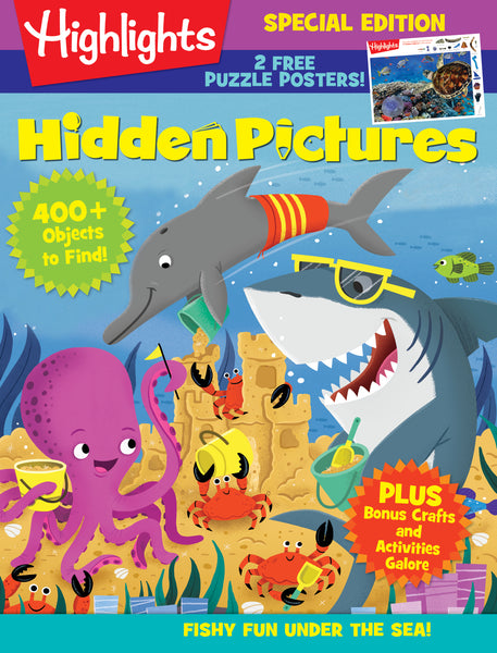 Highlights: Hidden Pictures-Fishy Fun Under the Sea!