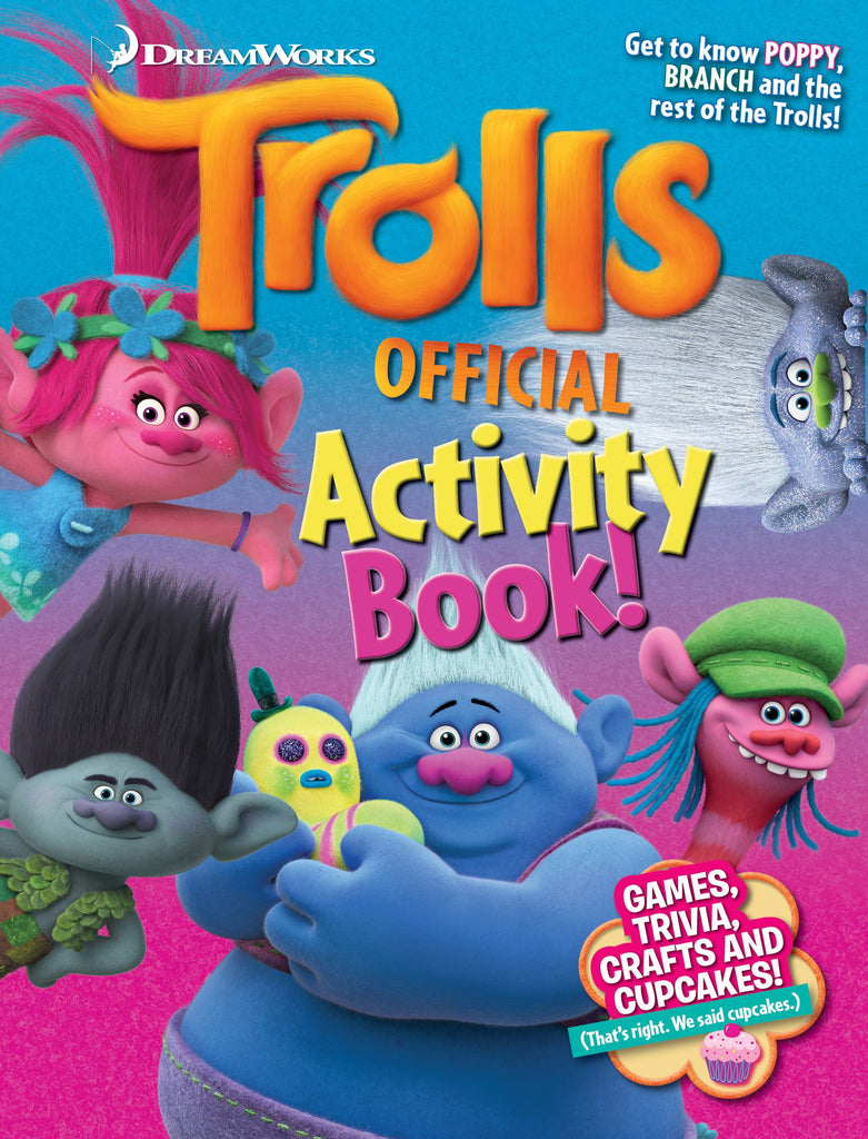 dreamworks trolls official activity book media lab publishing