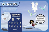 Wild Kratts Extreme Predators Magazine Snowy Owl Spread and Activity