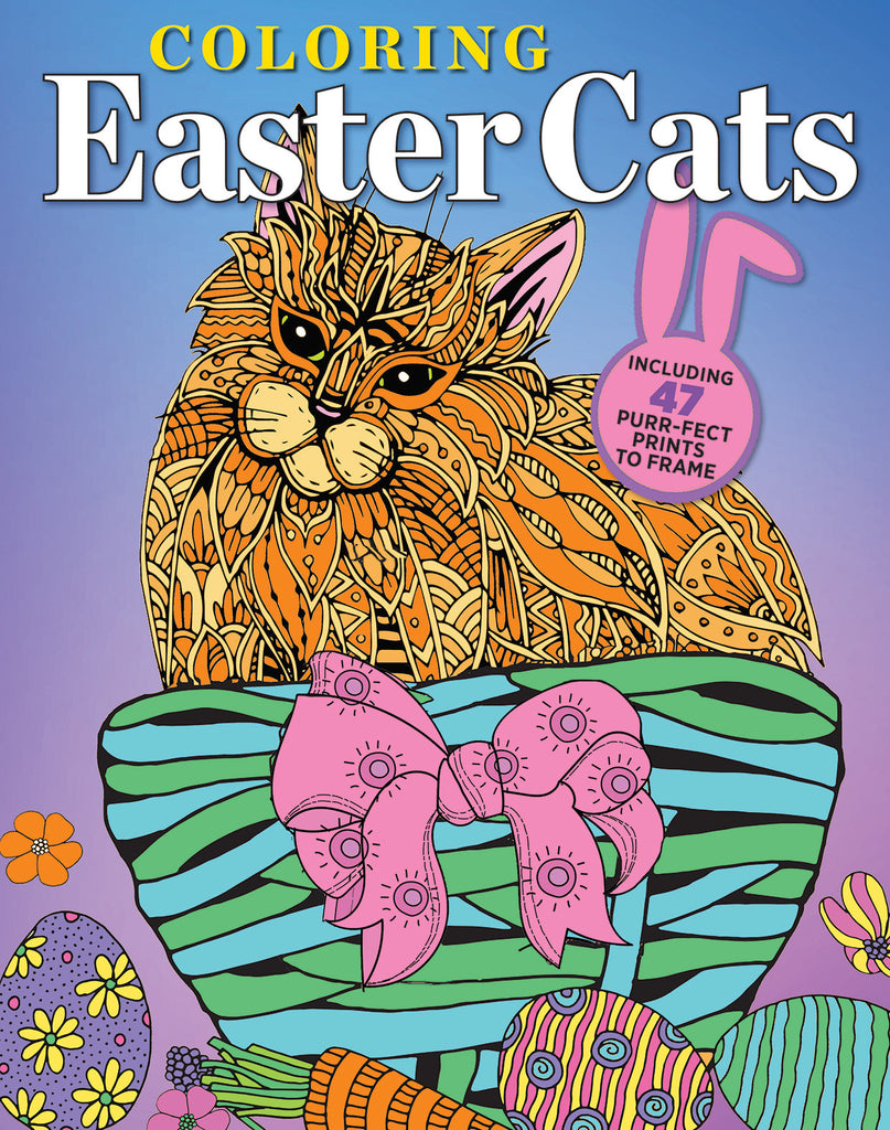 Coloring Easter Cats