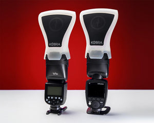 Kobra Flash Modifier Roundhead Band can be used with the Godox V1 & Profoto A1