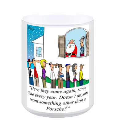Christmas Wish Porsche Coffee Mug