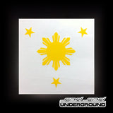 Decals: Sun and 3 Stars - Vinyl Decal