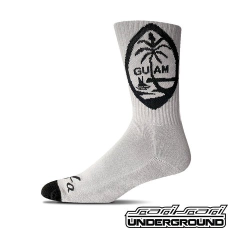 FW: Guam Socks - Gray & Black