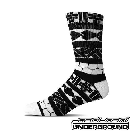 FW: Tribal Sleeve Socks - White
