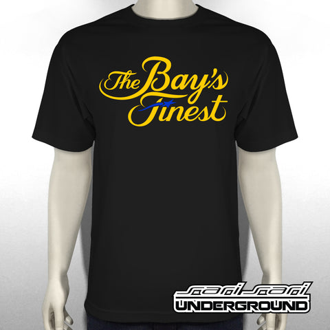 TBF: The Bays Finest on Black Tee