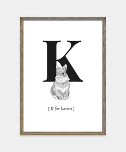 ★ K for kanin (str. A5)