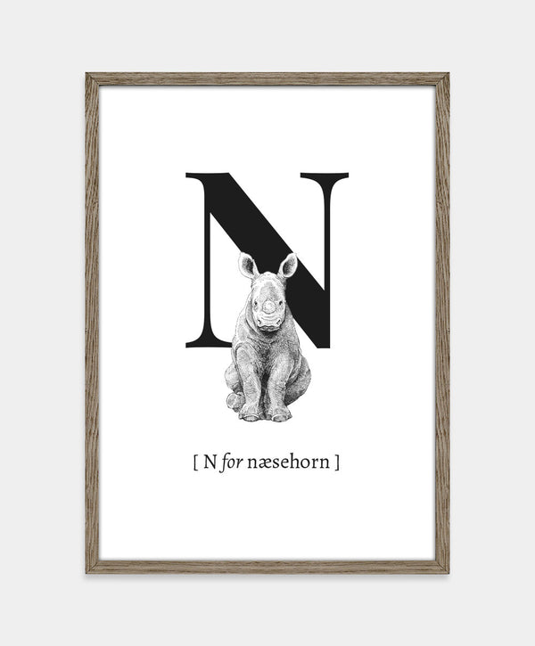 N for næsehorn