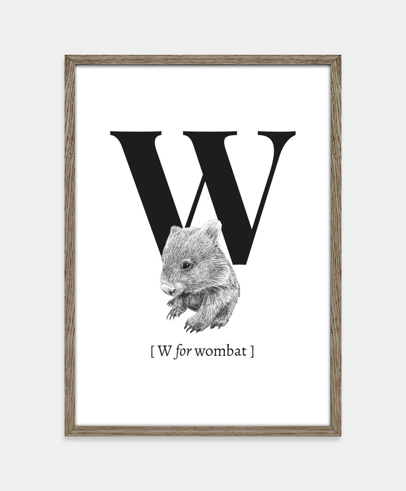 ★ W for wombat (str. A5)