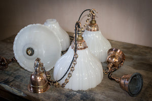 Jeffersons of Canada Fluted Opaline Pendants