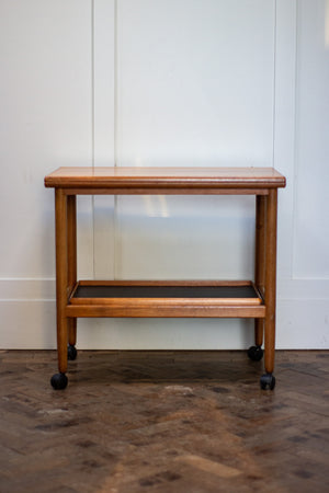 Grete Jalk Teak Serving Cart or Bar Trolley, for Poul Jeppesen, 1960s.