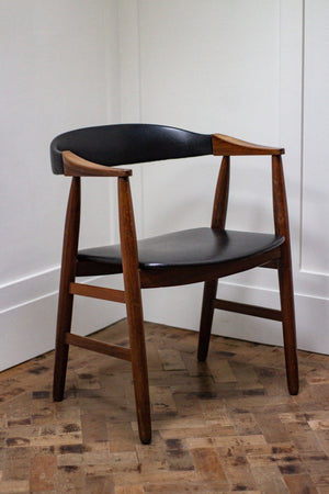 Danish Teak Desk Chair