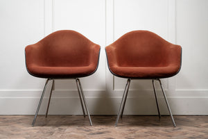 Pair of Original Charles and Ray Eames DAX Fibreglass Shell Chairs by Herman Miller, 1970.