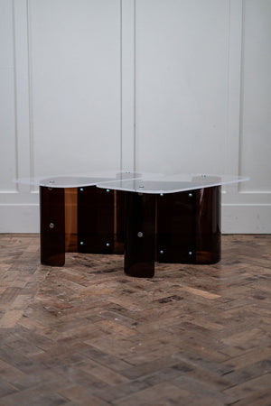 A Pair of 1970s Lucite Side Tables.
