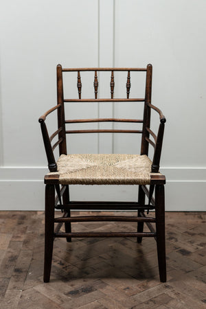 Arts and Crafts Sussex Chair, by Philip Webb for Morris and Co.