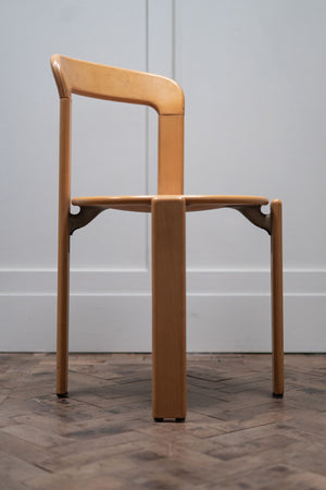 A Set of Four Dining Chairs by Bruno Rey for Kusch and Co, 1970s.