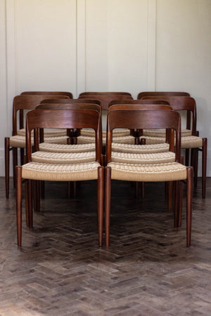 Set of 12 Niels O Møller Dining Chairs in Teak, Danish