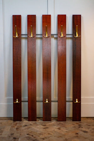 Rosewood Coat Rail, 1960s.