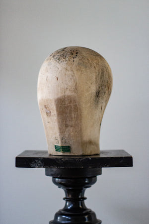 Wooden Millinery Head - Hugo Lundahl
