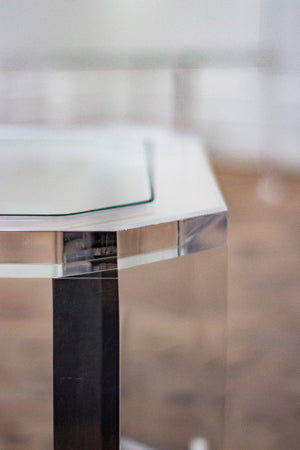 Pair of Clear Lucite Tables