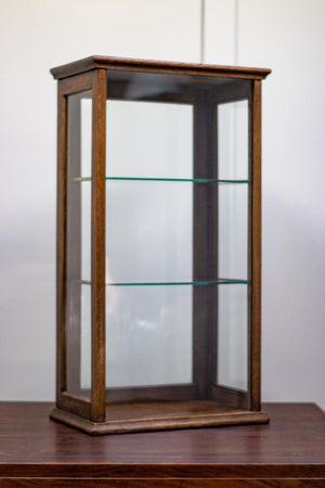 Oak Counter Top Display Cabinet