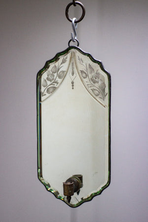 19th Century Candle Mirror