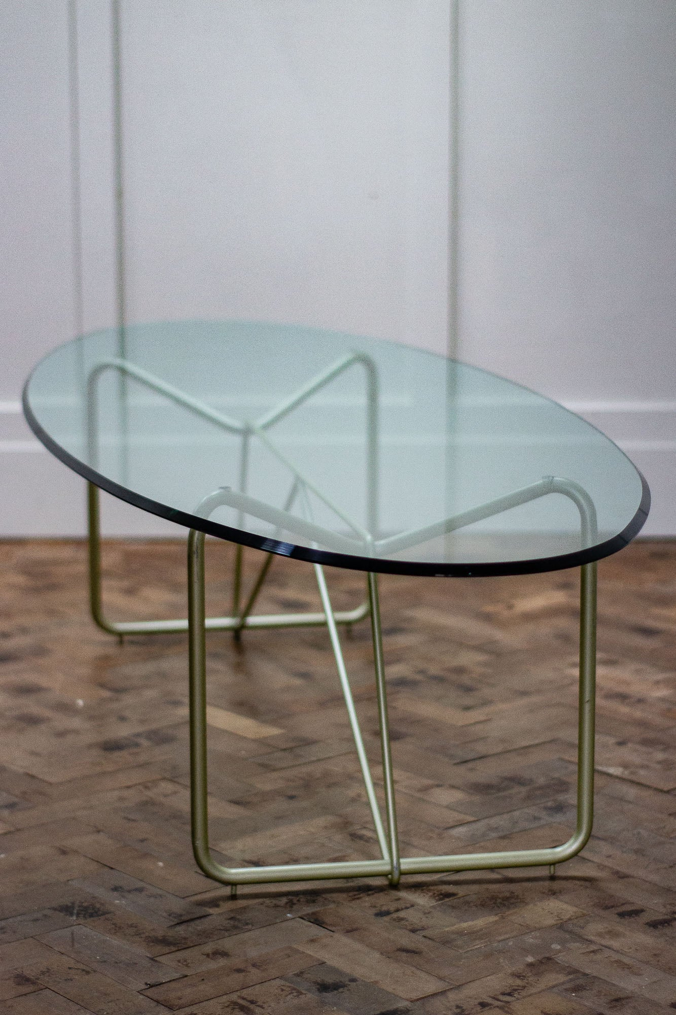 Excellent Mid Century Modern Oval Glass Coffee Table Home Interior And Landscaping Oversignezvosmurscom