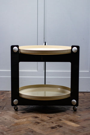 Luigi Massoni Midcentury Drinks Trolley for Guzzini 1970