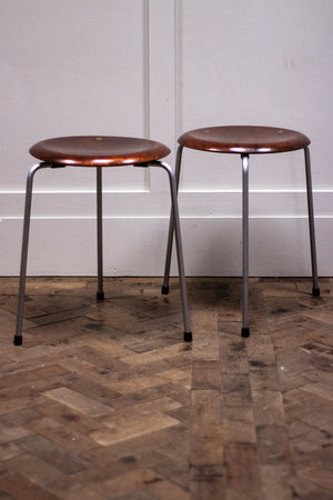 A Pair of 1950s Danish Dot Stools by Arne Jacobsen for Fritz Hansen.