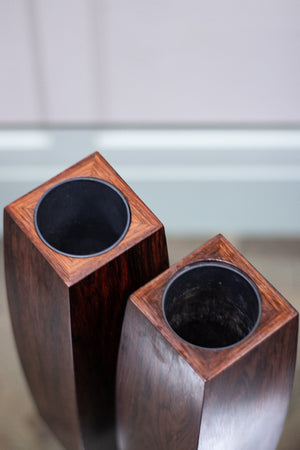 A Pair of Danish Rosewood Vases, 1960s.