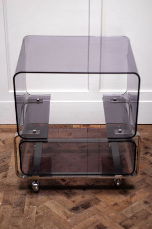 A 1960s Lucite and Chrome Unit.