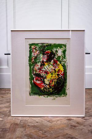 A 1983 Abstract Chimp Print.
