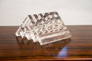 A Collection of Three Lucite Desktop Pen and Letter Holders by Harvey Guzzini.