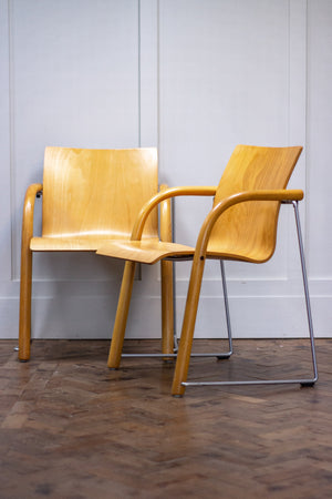 Pair of Armchairs by Ulrich Bohme & Wulf Schneider for Thonet