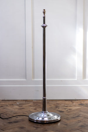 Mid-century Adjustable Chrome Floor Lamp, 1950s.