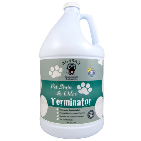BUBBAS, Super Strength Commercial Enzyme Cleaner-Pet Odor Eliminator. Gallon Size Enzymatic Stain Remover-Remove Dog-Cat Urine Smell From Carpet, ...