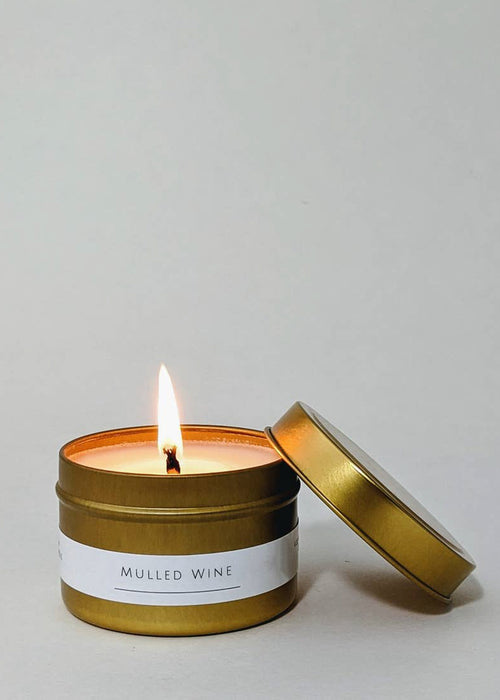 4 oz Gold Tin Candle - Mulled Wine