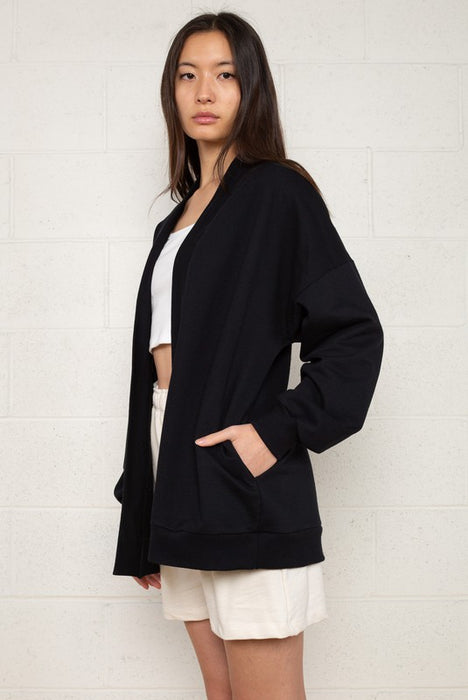 Easy Fleece Open Front Cardigan