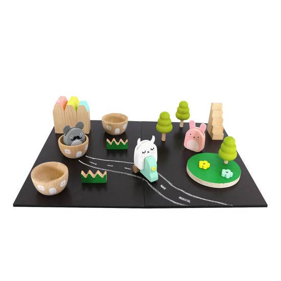 Play Set - Wooden Ricetown