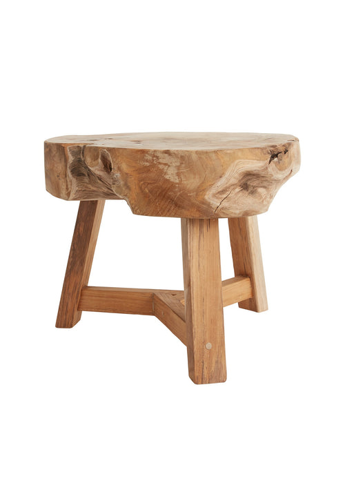 Wood Slab Side Table