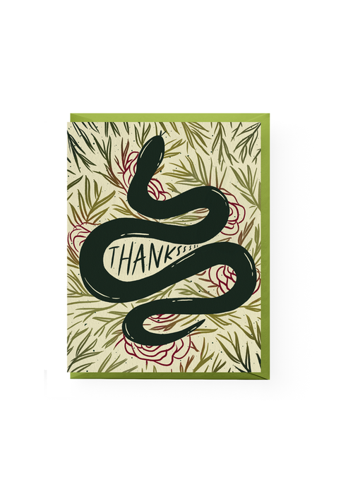 Snake Thanks Card