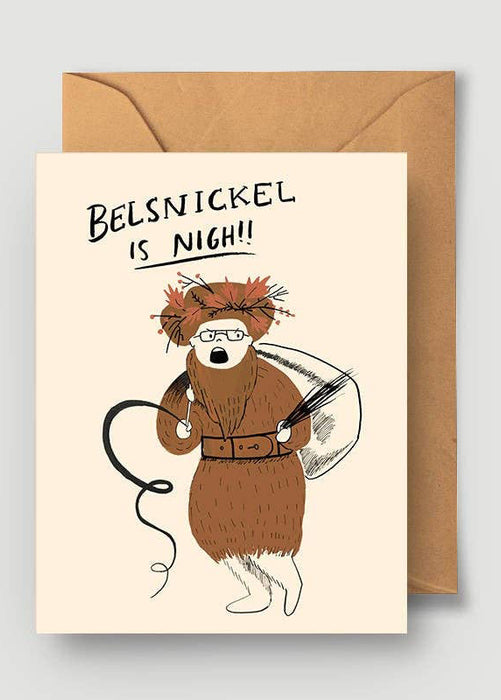 Belsnickel Is Nigh Card