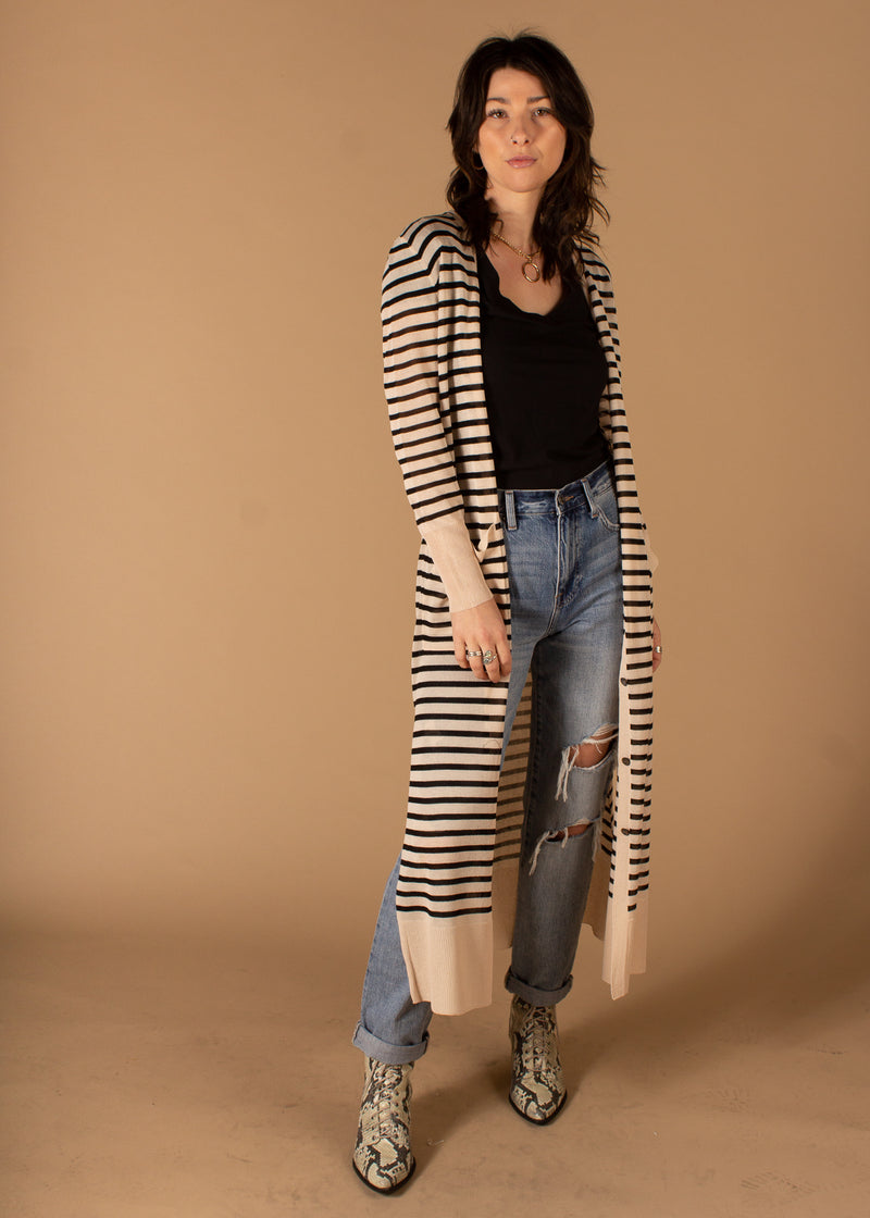 Tyler Button Down Striped Duster