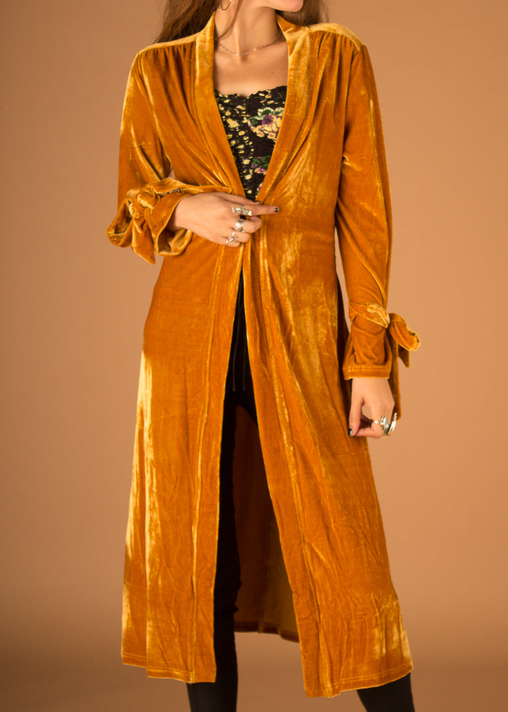 Butterscotch Velvet Cardigan