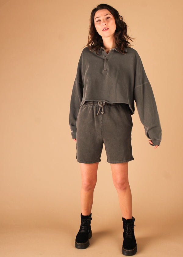 Gimme French Terry Shorts Charcoal