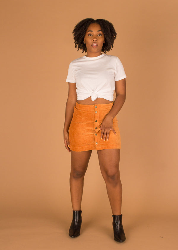 The Wide Wale Corduroy Skirt