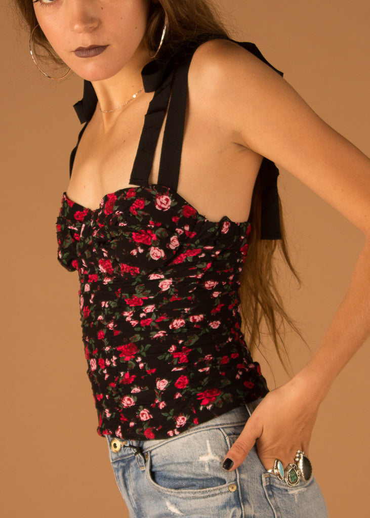 Tainted Bustier Top Rose