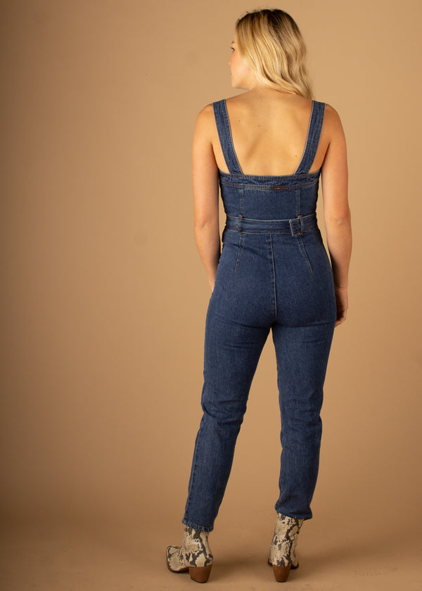 Utility Star Denim Jumpsuit